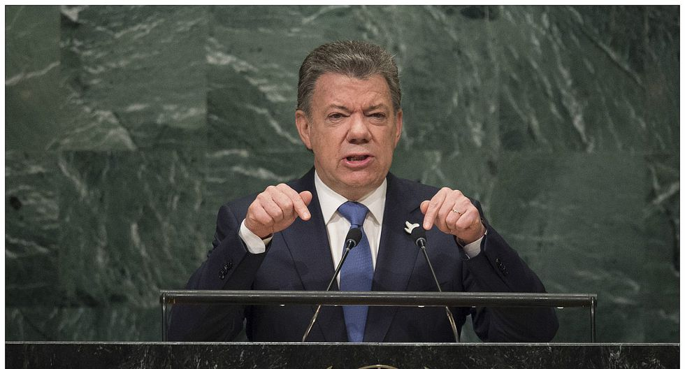 """Juan Manuel Santos en la ONU: """"La guerra en Colombia ha terminado"""" (VIDEO)"""