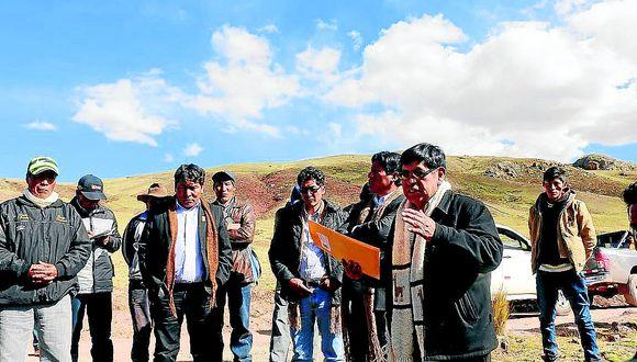 Puno: autoridades Verifican límites territoriales entre Puno y Cuzco
