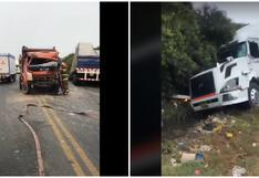 La Libertad: Choque de vehículos pesados deja dos heridos