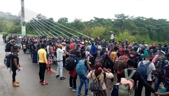 El ingreso de la caravana de migrantes haitianos dependerá de la decisión del Ministerio de Relaciones Exteriores (Cancillería), informó el Gobernador Regional de Madre de Dios, Luis Hidalgo,