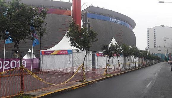 Cierran alrededores del Estadio Nacional por Juegos Panamericanos (FOTOS Y VIDEO)