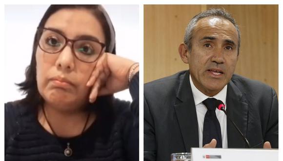 Karem Roca pidió disculpas al ministro Estremadoyro por afirmaciones en su contra