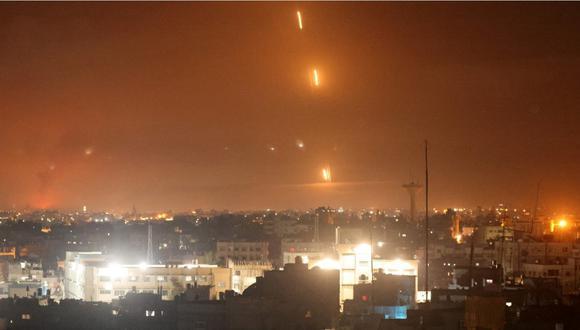 Bombardeo en Israel se registró esta noche. | Foto: AFP