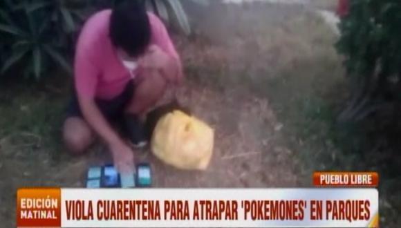 Hombre fue increpado por desacatar el aislamiento social obligatorio. (Foto captura: ATV Noticias)