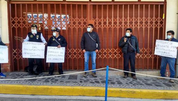 Entre los protestantes estuvo el señor Reynaldo Rojas Huancollo. (Foto: Difusión)