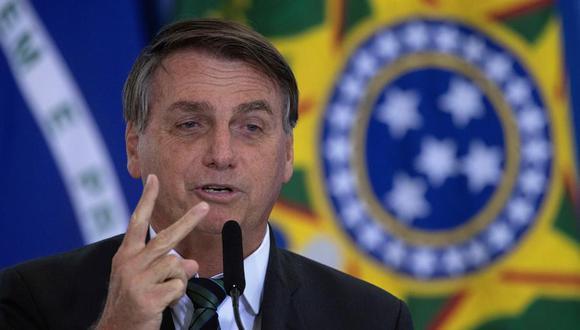 """""""Ahora, Facebook viene a bloquearme y a la población. Es increíble que eso impere en Brasil"""", expresó el presidente Jair Bolsonaro. (Foto: EFE/ Joédson Alves)"""