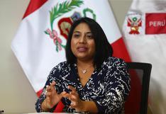 """Ministra de Justicia: """"Sería la cuarta vez que se intenta un proceso de vacancia por incapacidad moral contra un presidente"""""""
