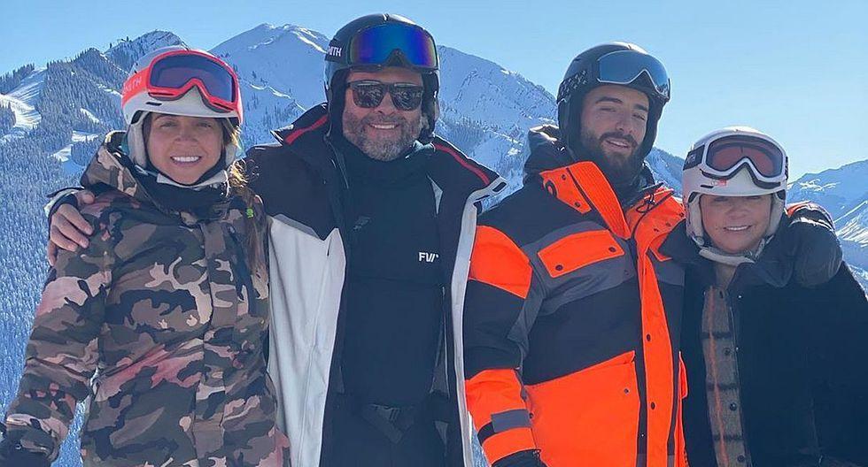 Maluma disfruta de unas merecidas vacaciones en la nieve junto a su familia.(Foto: @maluma)