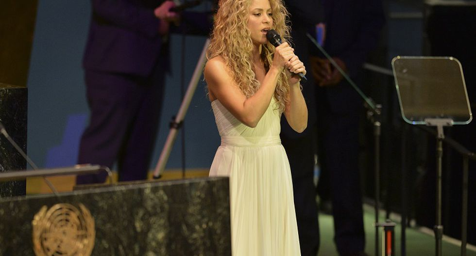 Shakira cantó en la ONU para el papa Francisco (VIDEO)