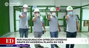 Emprendedores peruanos ofrecieron oxígeno gratis por inauguración de moderna planta