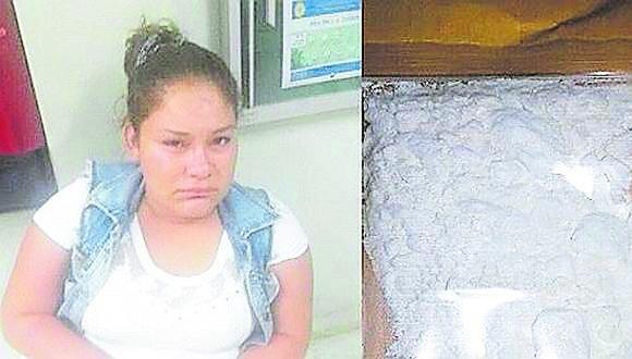 Arlee Mori Cubas llevaba clorhidrato de cocaína en un envoltorio escondido entre sus partes íntimas e iba a visitar a un interno.