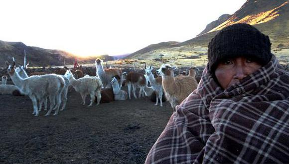 La temperatura cae hasta los -12 grados en la zona andina de Tacna. (Foto: Correo)