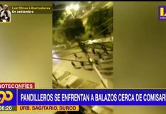Pandilleros se enfrentan a disparos cerca de comisaría en Surco
