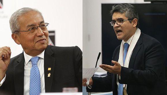 """Pedro Chávarry sobre el fiscal Pérez: """"Puedo removerlo en cualquier momento"""""""