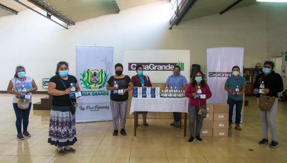 Azucarera entregó 13,800 unidades de alcohol en gel y 70,000 mascarillas para frenar contagios del virus.