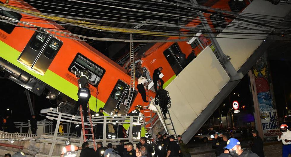 Personal de rescate busca a heridos tras el colapso de la estructura del metro de  Ciudad de México. (EFE/Sáshenka Gutiérrez).