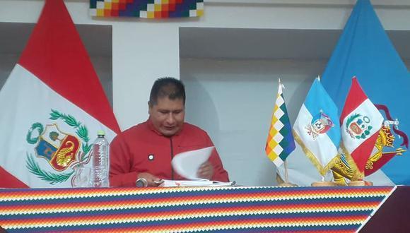 El gobernador regional de Puno no puede asumir su cargo por problemas judiciales.