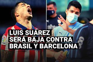 Luis Suárez dio positivo a la prueba de coronavirus y será baja en Uruguay y Atlético de Madrid