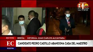 Pedro Castillo abandona Casa del Maestro por sismo de 6.0 en Lima