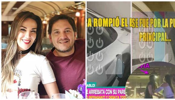 Silvia Cornejo: así quedó el auto de su novio tras encontrarlo con otra mujer (VIDEO)