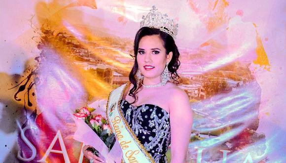 Jenifer Paucara Barrios fue elegida Señorita Samegua 2020