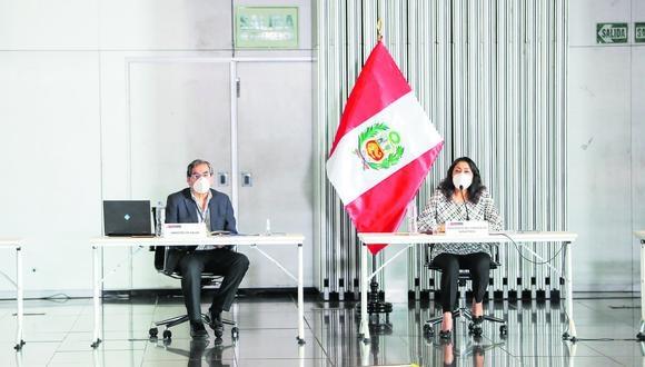 Violeta Bermúdez se presentó ante el Congreso en la comisión COVID-19. (Foto: Presidencia)