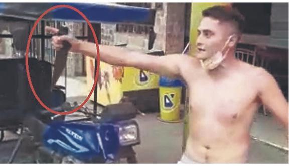 Ante la negativa del joven venezolano, un agente PNP tuvo que sacar su arma de fuego y dispararle en la pierna para reducirlo.