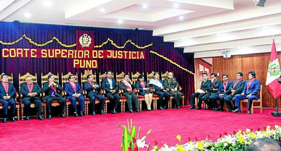 Walter Gálvez Condori asume presidencia del Corte Superior de Justicia de Puno