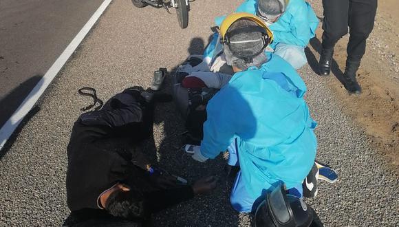Juan Chura Mamani (33) y José Chura Apora (60) fueron trasladados al hospital Unanue. (Foto: Difusión)