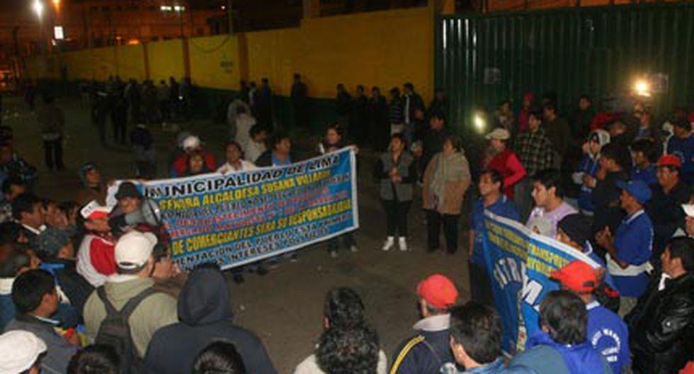 Comerciantes de La Parada inician huelga de 72 horas