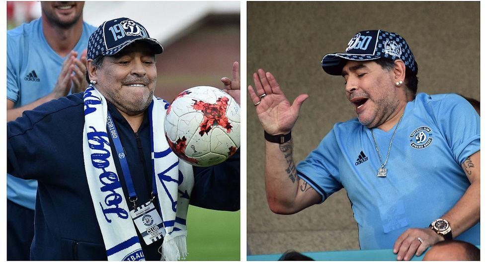 Diego Maradona llegó a Bielorrusia para asumir presidencia de club de fútbol