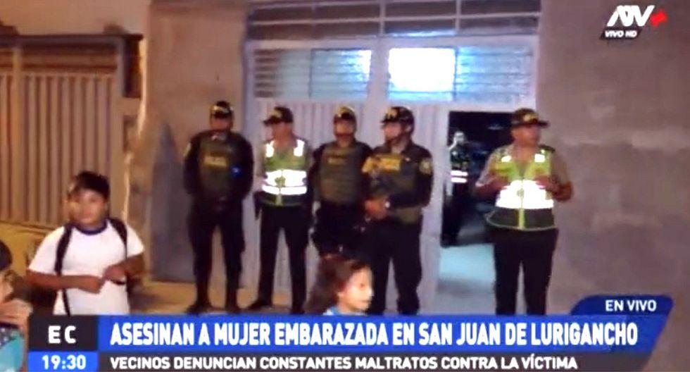 Mujer con 8 meses de embarazo es asesinada en San Juan de Lurigancho (VIDEO)