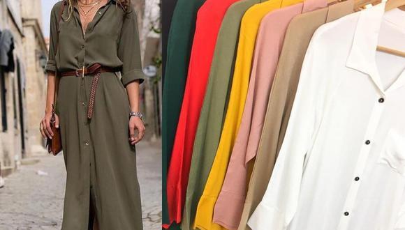 El vestido camisero es una prenda ligera que puedes usar cómodamente sabiendo que modelo le queda a tu silueta. (Instagram: @mujeres_onfire_)