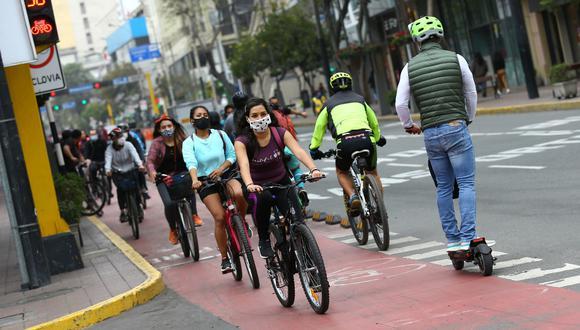 Ciclistas podrían ser multados si no respetan el reglamento de tránsito desde el 3 de junio (Foto: GEC)