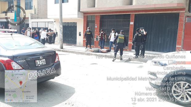 Momento de la captura del agente policial procesado. (PNP)