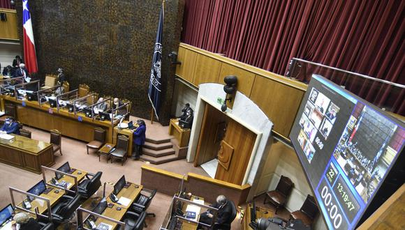 Visión de la Cámara de Diputados de Chile en Valparaíso, el 22 de julio de 2020. (FRANCESCO DEGASPERI / AFP).