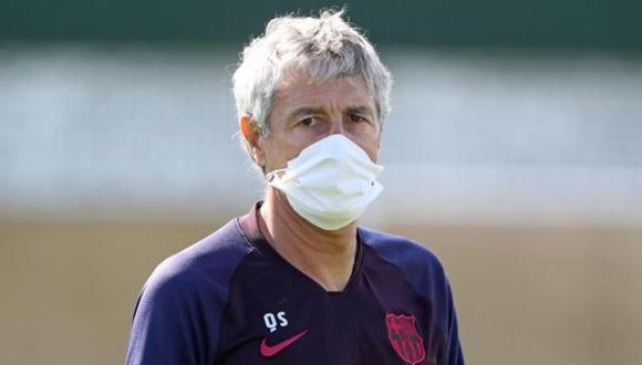 Quique Setién es entrenador del FC Barcelona desde enero de este año. (Foto: AFP)