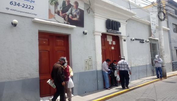 Oficina de la ONP sigue  cerrada en Arequipa, atención es virtual| Foto: Nelly Hancco