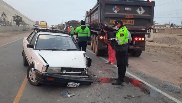 Al parecer la neblina de la zona habría ocasionado el accidente de tránsito que felizmente no dejó víctima mortales. (Foto: Difusión)