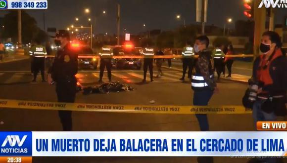 El hombre falleció durante una balacera ocurrida en la avenida Colonial. (ATV)