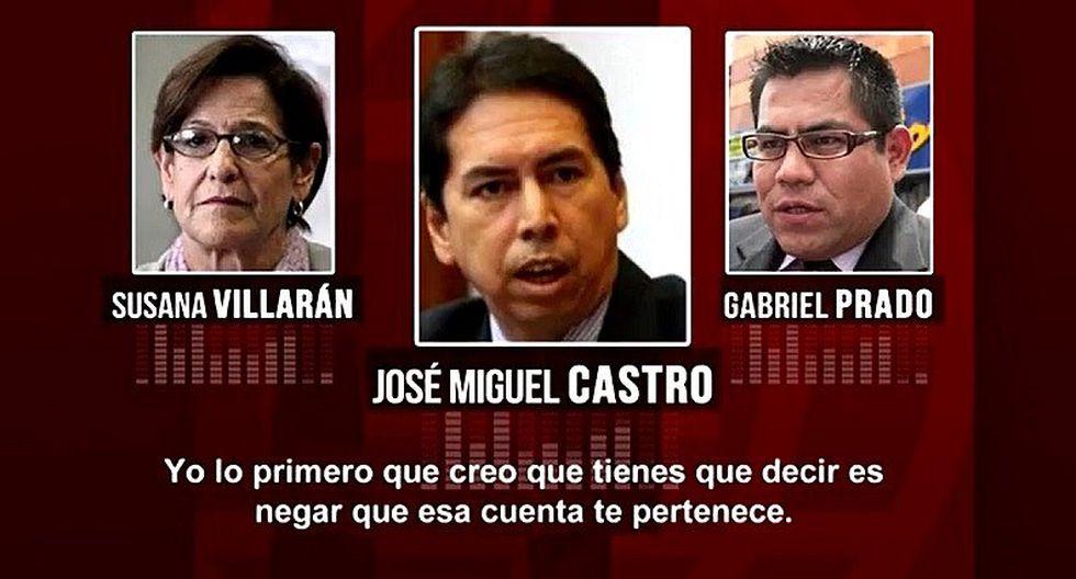 Nuevo audio revela que José Miguel Castro le pidió a Gabriel Prado negar titularidad de cuenta en Andorra