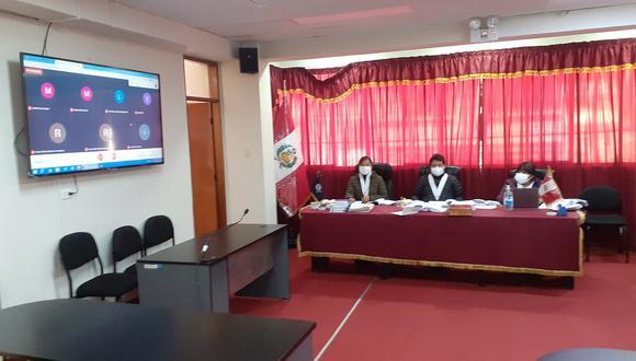 Audiencia del Colegiado de la Corte Superior de Justicia de Huancavelica.
