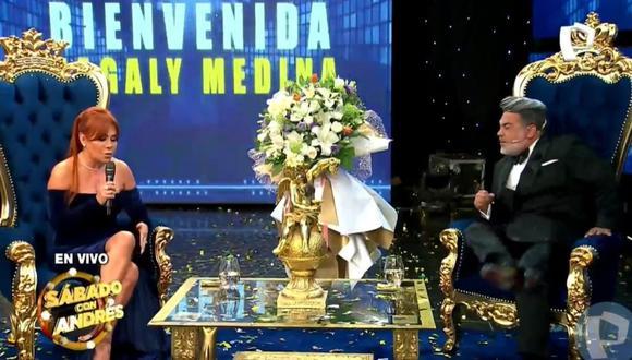 Andrés Hurtado interrumpió a Magaly para pedirle que lo llame por su nombre real, desatando la risa de la conductora. (Foto: captura Panamericana TV)