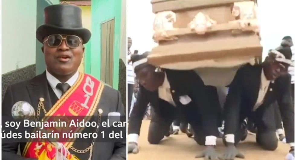 Líder de los cargadores de féretros en Ghana habla sobre su popularidad en las redes. (Foto: Captura BBC)
