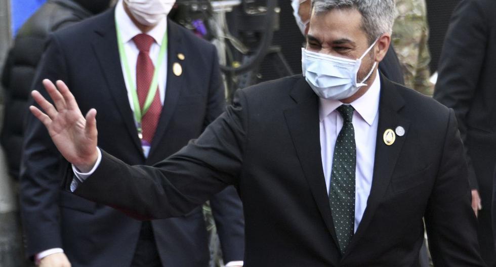 El presidente de Paraguay Mario Abdo Benítez. (Foto: AIZAR RALDES / AFP).