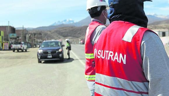 El personal de Sutran hace un permanente control. (Foto: Difusión)