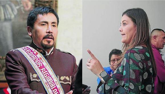 Gobernador de Arequipa Cáceres Llica y exgobernadora Osorio chocan por gestión