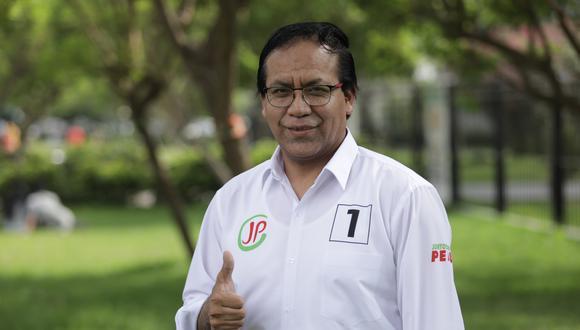 Roberto Sánchez, candidato al Congreso y presidente de Juntos por el Perú, dijo que hay coincidencias con Pedro Castillo. (Foto: GEC)