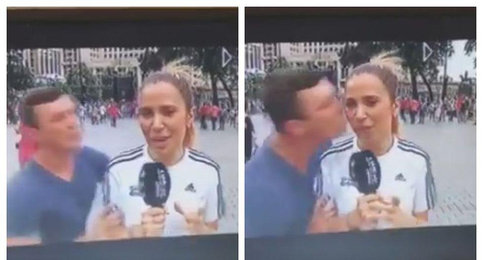 Periodista española fue besada a la fuerza mientras cubría el Mundial (VIDEO)