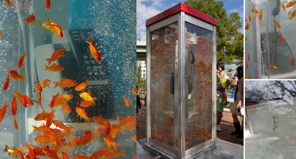 Así reciclan las cabinas telefónicas en Japón (FOTOS)